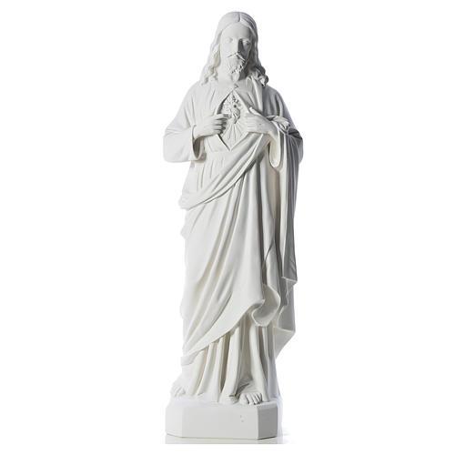 Sagrado Corazón de Jesús 130 cm polvo de mármol 1
