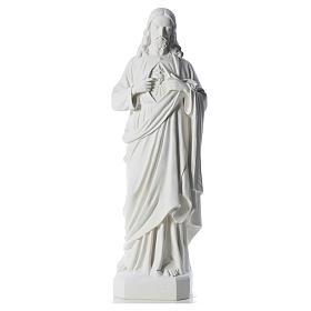 Sacro Cuore di Gesù 130 cm polvere di marmo s5