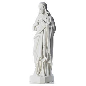 Sacro Cuore di Gesù 130 cm polvere di marmo s6