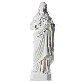 Sacro Cuore di Gesù 130 cm polvere di marmo s1
