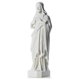 Sacro Cuore di Gesù 130 cm polvere di marmo s2