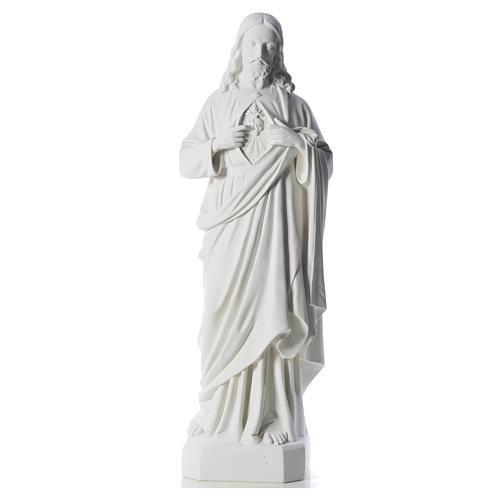 Sacro Cuore di Gesù 130 cm polvere di marmo 5