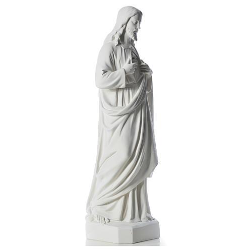 Sacro Cuore di Gesù 130 cm polvere di marmo 4