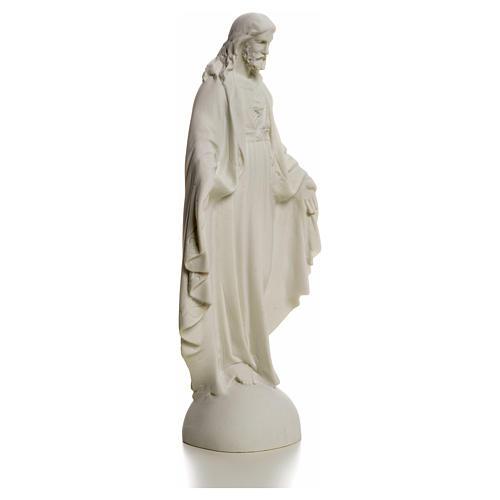 Sagrado Corazón de Jesús 25cm mármol 5