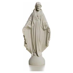Sacro Cuore di Gesù 25 cm marmo s4