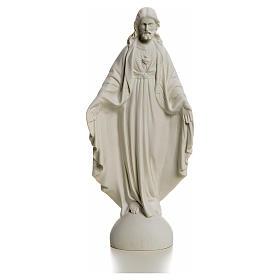 Sacro Cuore di Gesù 25 cm marmo s1