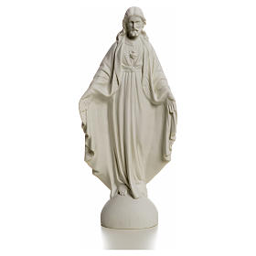 Holy Heart of Jesus, Reconstituted Carrara Marble Statue, 25 cm s4
