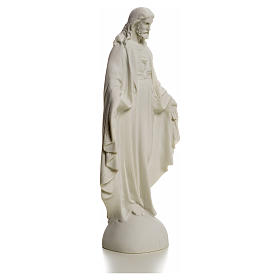 Holy Heart of Jesus, Reconstituted Carrara Marble Statue, 25 cm s5