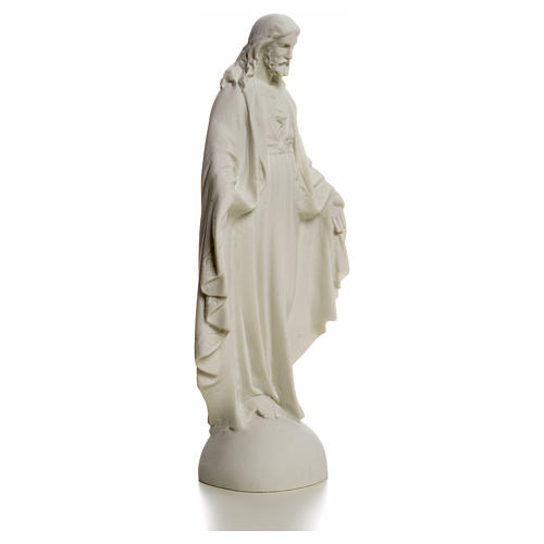 Holy Heart of Jesus, Reconstituted Carrara Marble Statue, 25 cm 5