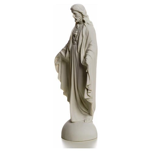 Holy Heart of Jesus, Reconstituted Carrara Marble Statue, 25 cm 6