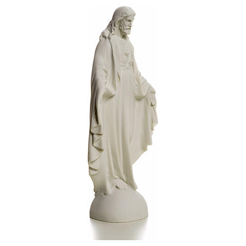 Holy Heart of Jesus, Reconstituted Carrara Marble Statue, 25 cm 2