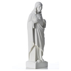 Sacré coeur de Jésus marbre blanc reconstitué 30-40 cm s8