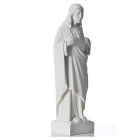 Sacré coeur de Jésus marbre blanc reconstitué 30-40 cm s4