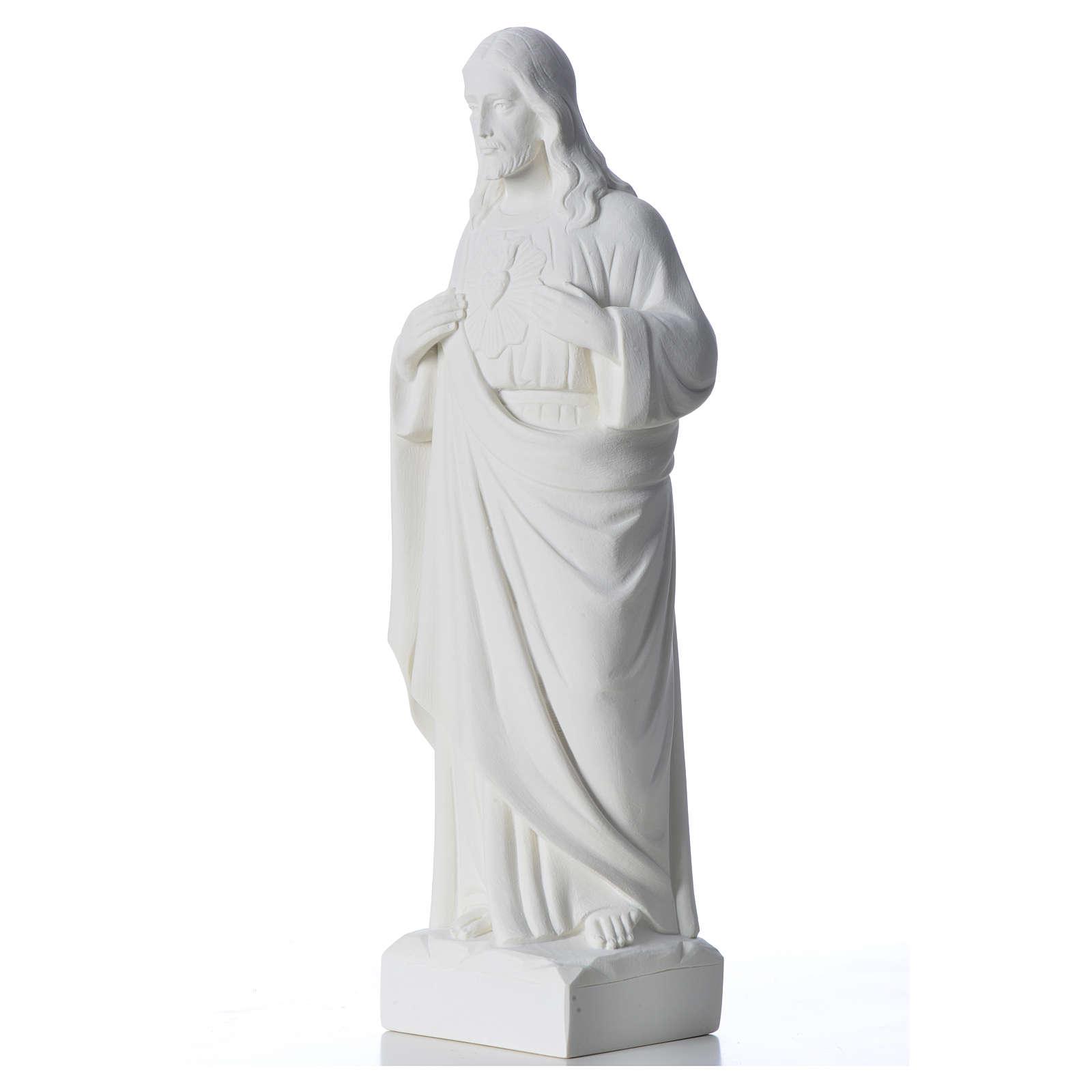 Sacro Cuore di Gesù marmo bianco 30-40 cm 4