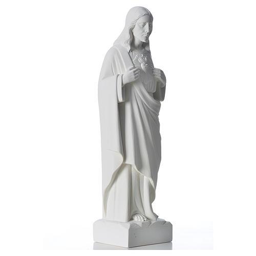 Sagrado Coração de Jesus mármore branco 30-40 cm 4