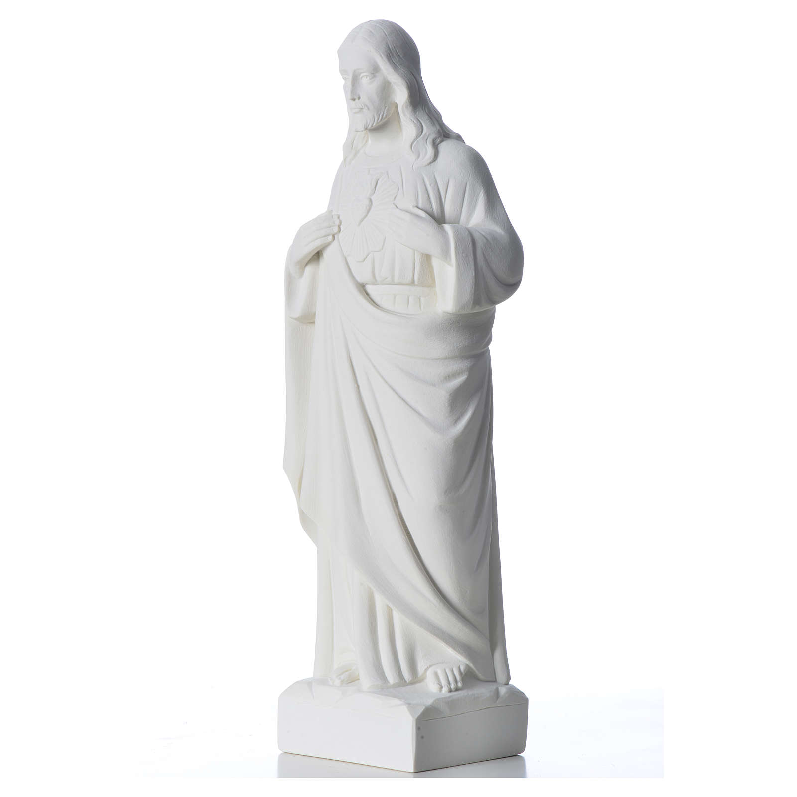 Holy Heart of Jesus in Reconstituted Marble 30-40 cm 4