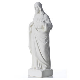 Holy Heart of Jesus in Reconstituted Marble 30-40 cm s6