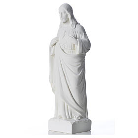 Holy Heart of Jesus in Reconstituted Marble 30-40 cm s2