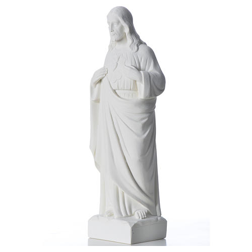 Holy Heart of Jesus in Reconstituted Marble 30-40 cm 6