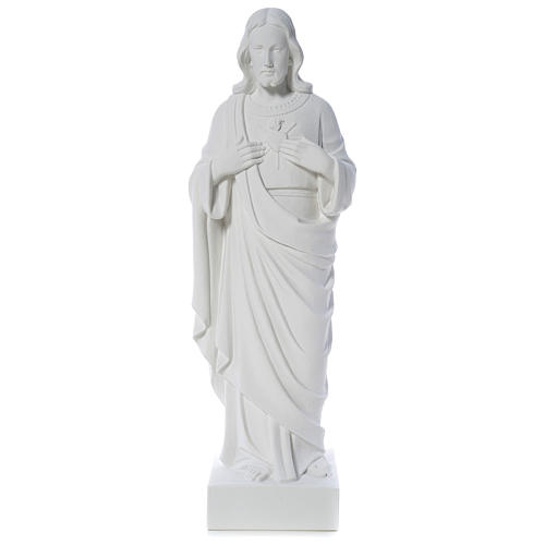 Holy Heart of Jesus -  Reconstituted Carrara Marble Statue 80-100 cm 1