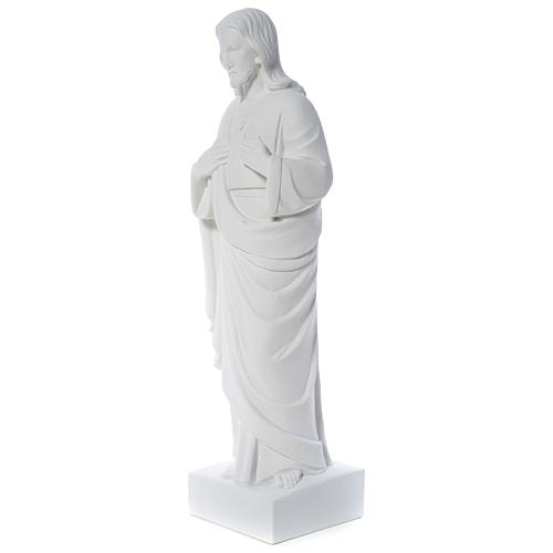 Holy Heart of Jesus -  Reconstituted Carrara Marble Statue 80-100 cm 2