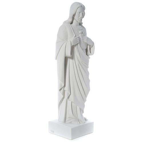 Holy Heart of Jesus -  Reconstituted Carrara Marble Statue 80-100 cm 3