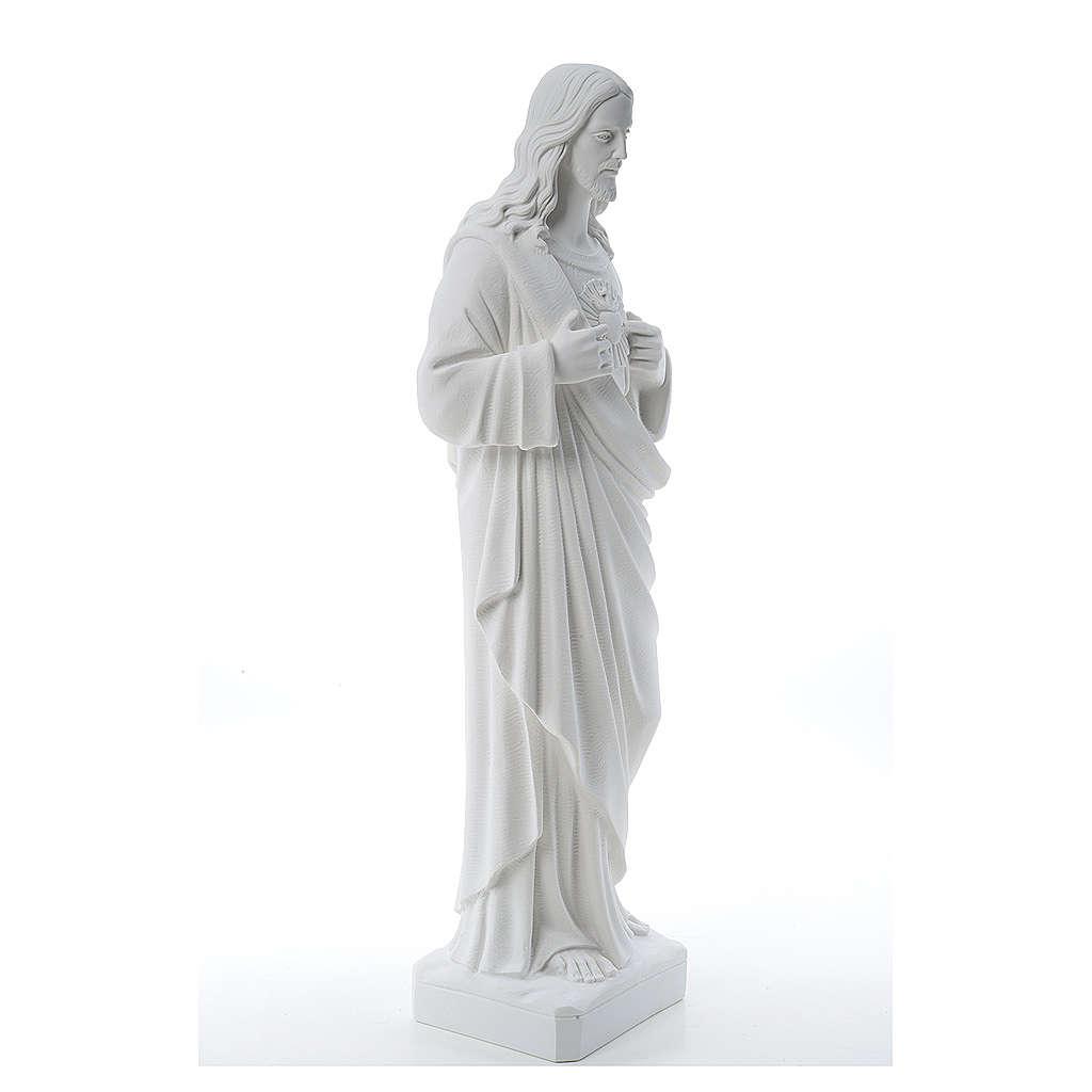 Sacro Cuore di Gesù polvere di marmo 80-100 cm 4