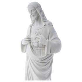Sacro Cuore di Gesù polvere di marmo 80-100 cm s2