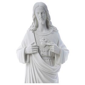 Sacro Cuore di Gesù polvere di marmo 80-100 cm s4