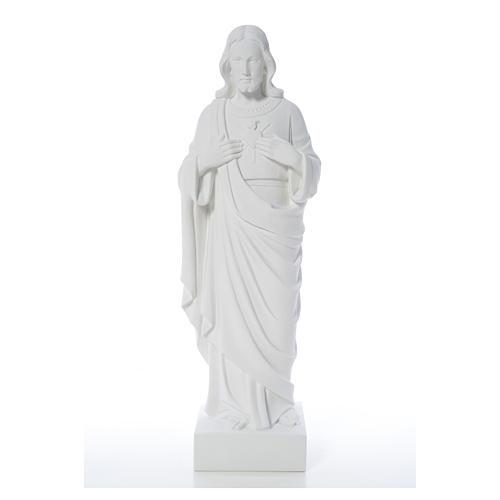 Sacro Cuore di Gesù polvere di marmo 80-100 cm 5