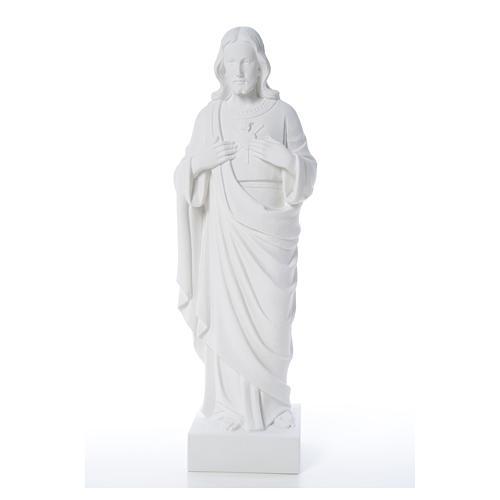 Sacro Cuore di Gesù polvere di marmo 80-100 cm 13