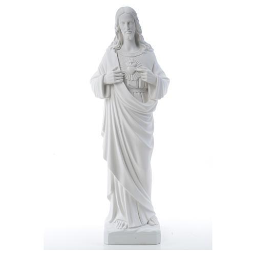 Sacro Cuore di Gesù polvere di marmo 80-100 cm 17