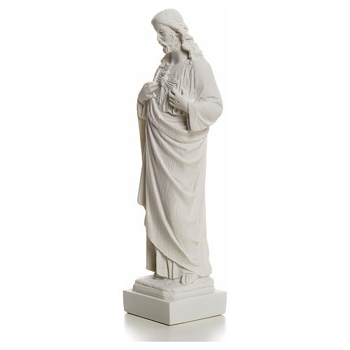 Holy Heart of Jesus made of Reconstituted Carrara Marble 20-25 cm 6