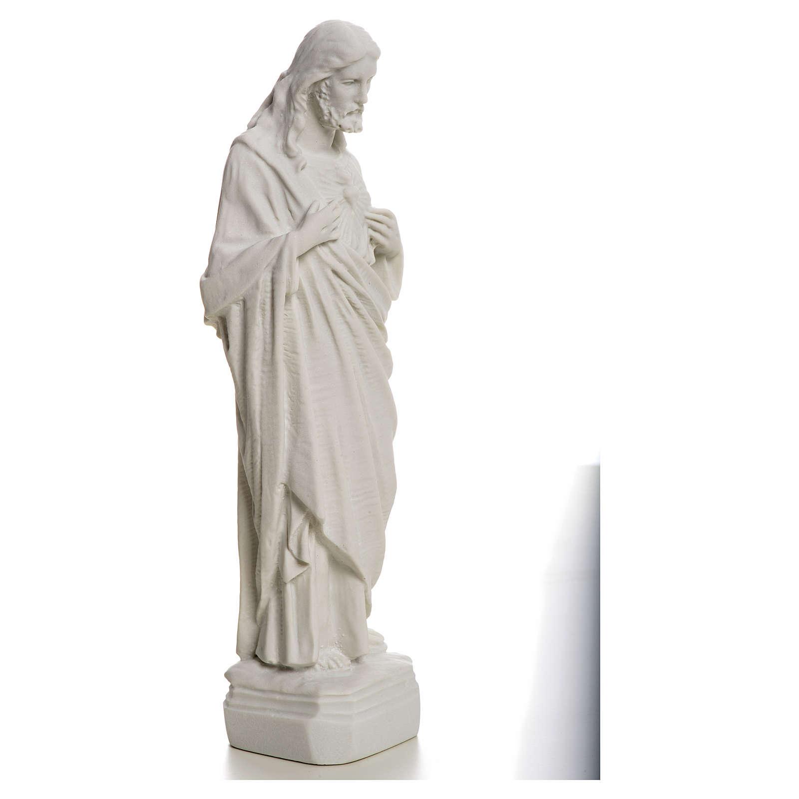 Sagrado Corazón de Jesús en polvo de mármol 20-25 cm 4
