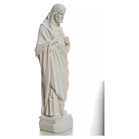 Sagrado Corazón de Jesús en polvo de mármol 20-25 cm s8