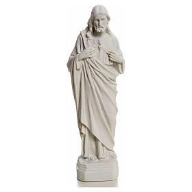 Sagrado Corazón de Jesús en polvo de mármol 20-25 cm s1