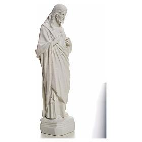 Sagrado Corazón de Jesús en polvo de mármol 20-25 cm s2