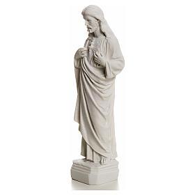 Sagrado Corazón de Jesús en polvo de mármol 20-25 cm s3