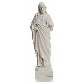 Sagrado Corazón de Jesús en polvo de mármol 20-25 cm s4