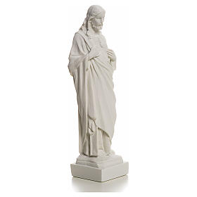 Sagrado Corazón de Jesús en polvo de mármol 20-25 cm s5