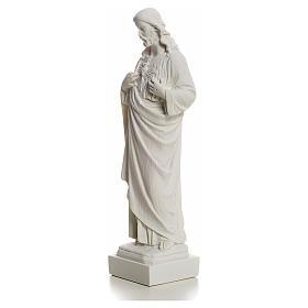 Sagrado Corazón de Jesús en polvo de mármol 20-25 cm s6
