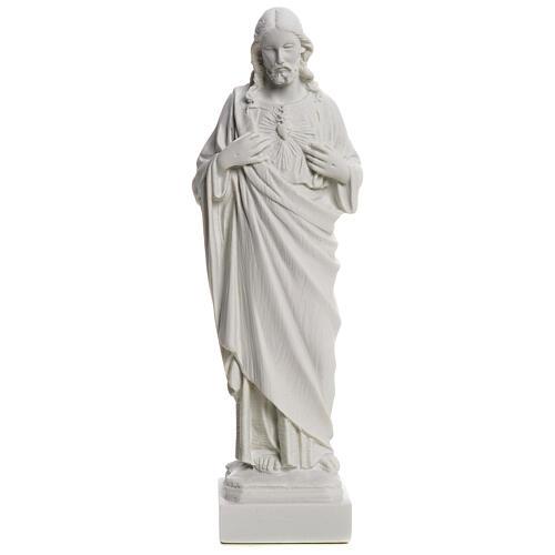 Sagrado Corazón de Jesús en polvo de mármol 20-25 cm