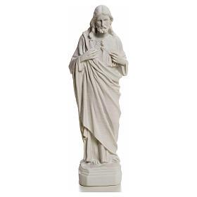 Sacro Cuore Gesù in polvere di marmo 20-25 cm s7