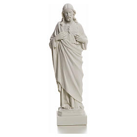 Sacro Cuore Gesù in polvere di marmo 20-25 cm s10