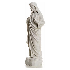Sacro Cuore Gesù in polvere di marmo 20-25 cm s3