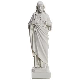 Sacro Cuore Gesù in polvere di marmo 20-25 cm