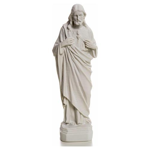 Sacro Cuore Gesù in polvere di marmo 20-25 cm 7