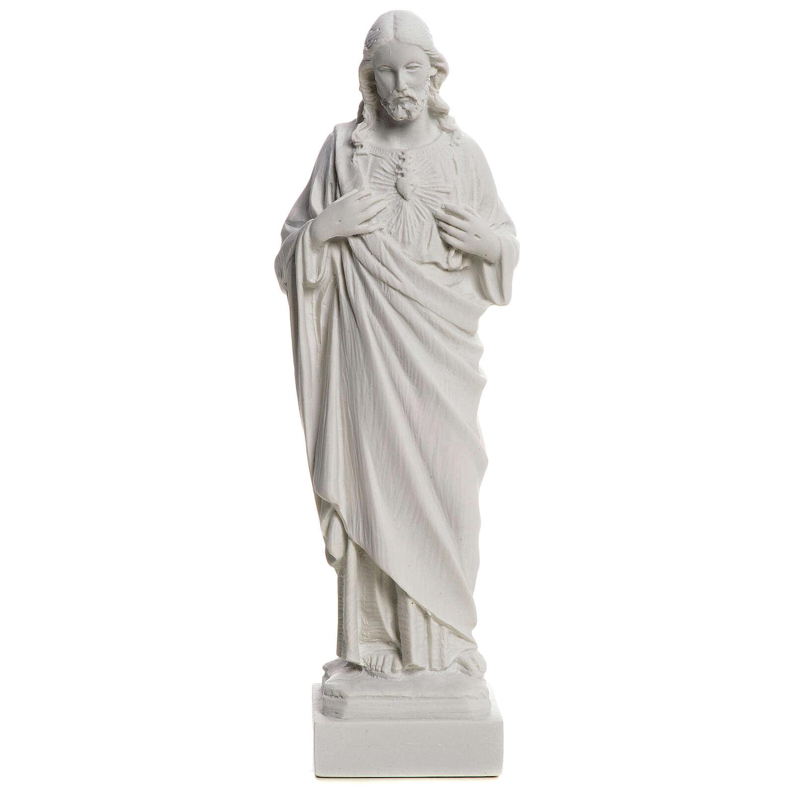 Najświętsze Serce Jezusa z proszku marmurowego 20-25 cm 4