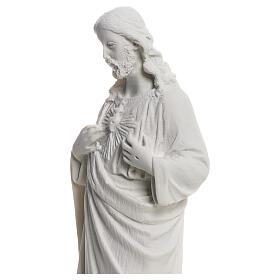 Najświętsze Serce Jezusa z proszku marmurowego 20-25 cm s4