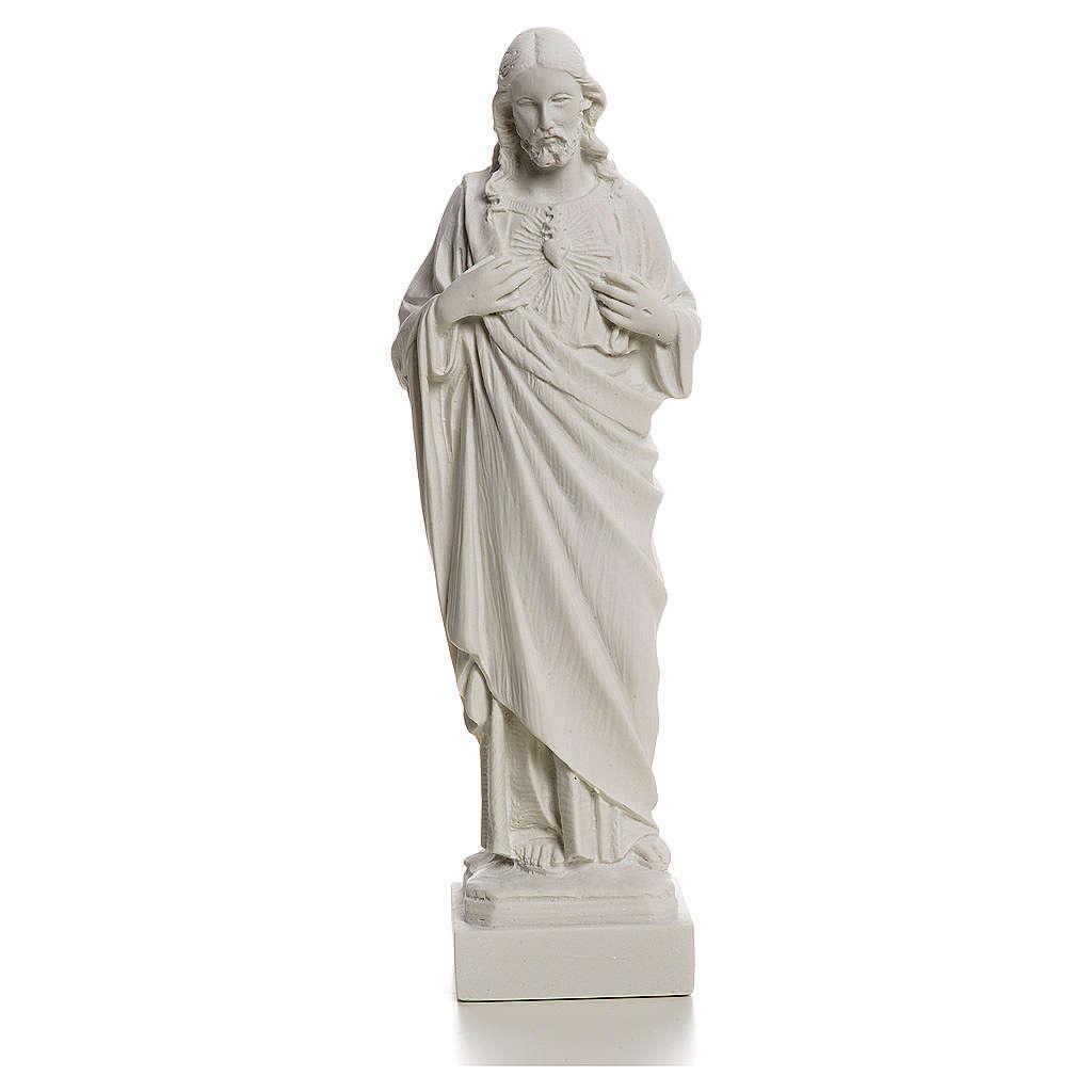 Sagrado Coração de Jesus em pó de mármore 20-25 cm 4